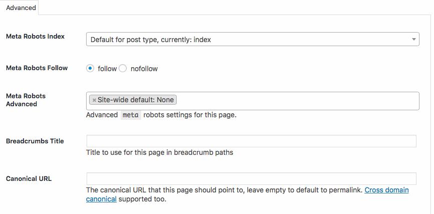 Canonical URL Yoast SEO