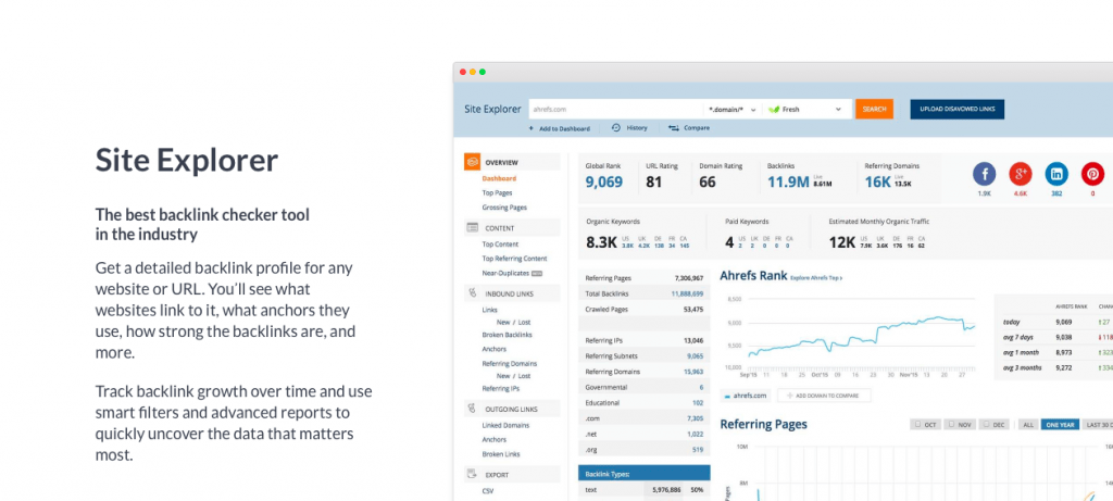 Ahrefs is the best backlink research and audit tool on the market.