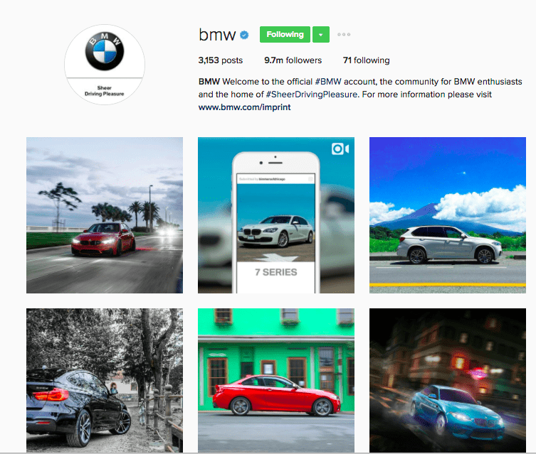 Best Brands on Instagram - BMW