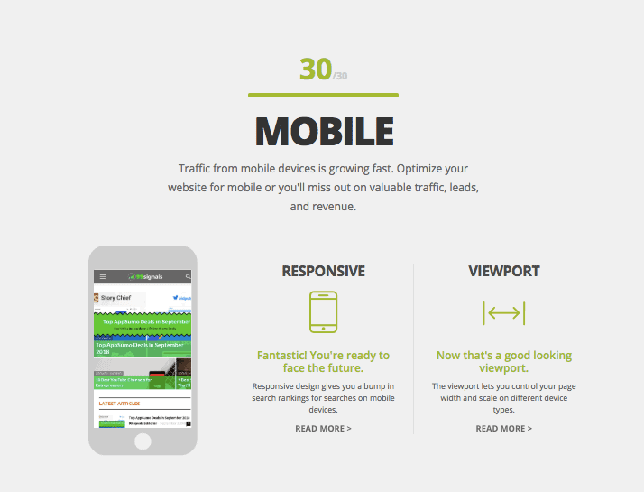 HubSpot Website Grader Mobile