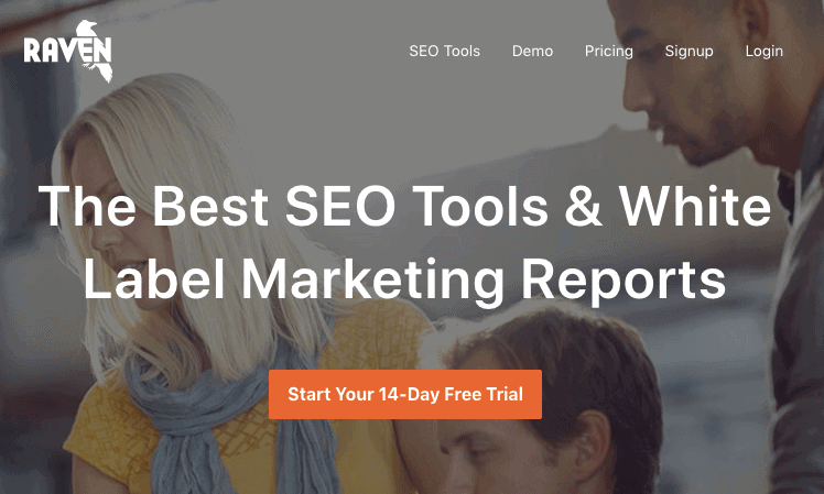 Raven Tools - This is yet another tool which I'd recommend to agency owners as it allows you to create interactive marketingreports for your clients' websites.