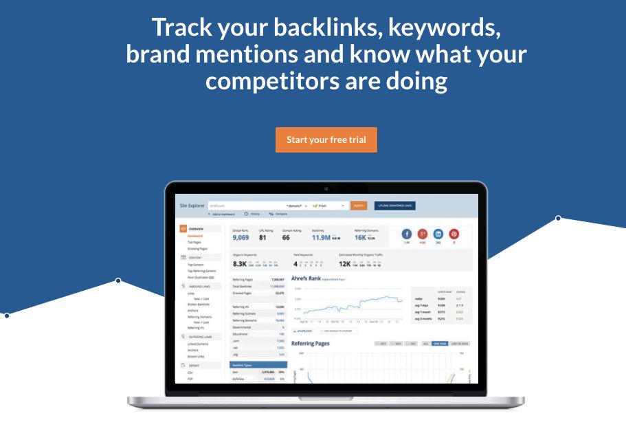Quando si tratta di backlink di ricerca e audit, non esiste uno strumento migliore di Ahrefs.