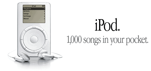 iPod Commercial - 1000 songs in your pocket