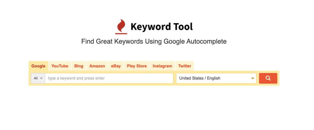 Keyword Tool - Free Keyword Research Tool