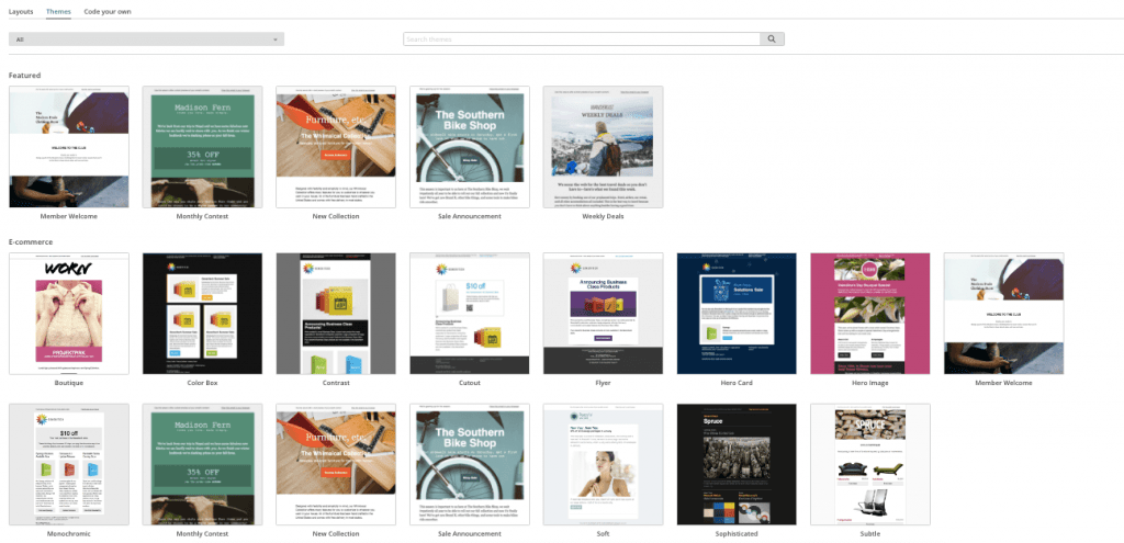 MailChimp Review - Email Templates