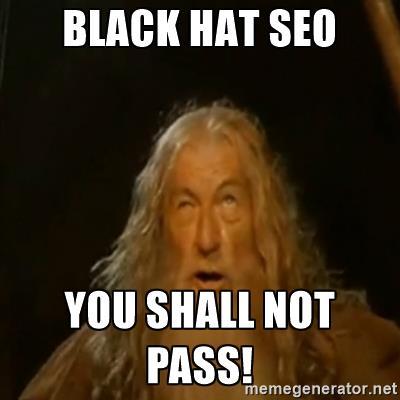 black hat seo - gandalf