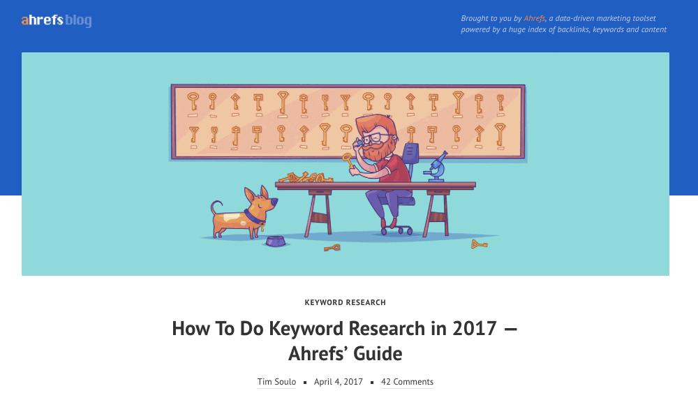 Ahrefs Keyword Research [Best SEO Articles April 2017]