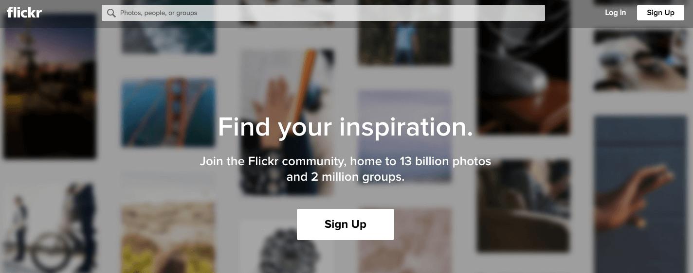 Siti di presentazione di infografiche: Flickr è un sito di proprietà di Yahoo che combina gallerie di immagini con una comunità di milioni di fotografi e designer dilettanti e professionisti.