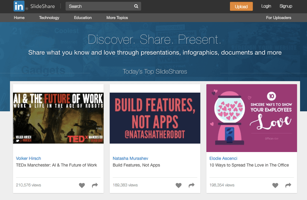 SlideShare - Recommended Resources for Bloggers
