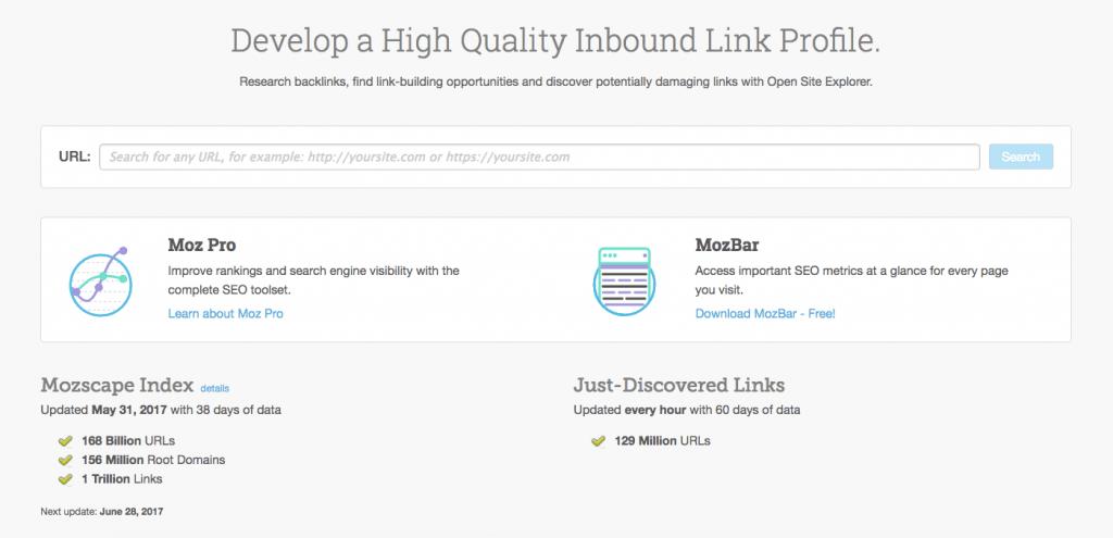 Moz Open Site Explorer - Must-Have Link Building Tools