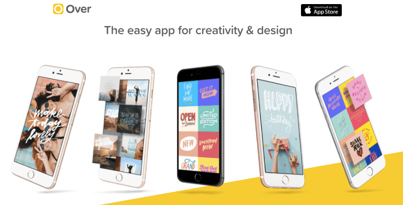 Over for iOS - iPhone Apps for Marketing Professionals