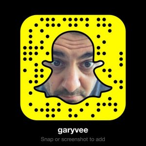 GaryVee on Snapchat - Follow Gary Vaynerchuck on Snapchat to get a sneak peek at how he builds his personal brand, along with great motivational tips on how to succeed in entrepreneurship.