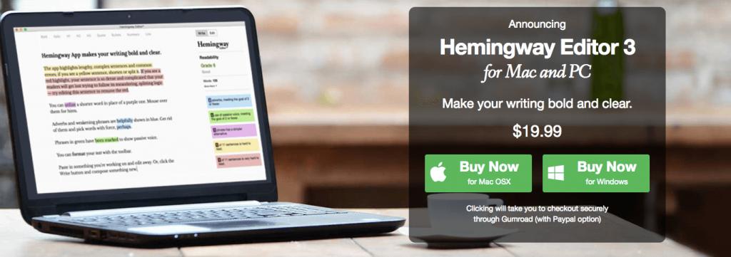 Hemingway 3.0 - Mac Apps for Marketing Professionals