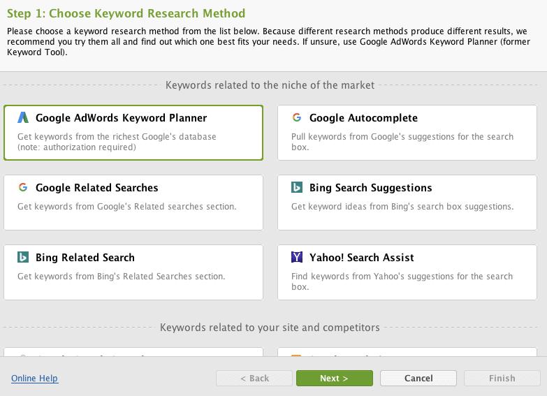 SEO PowerSuite Review - Keyword Research