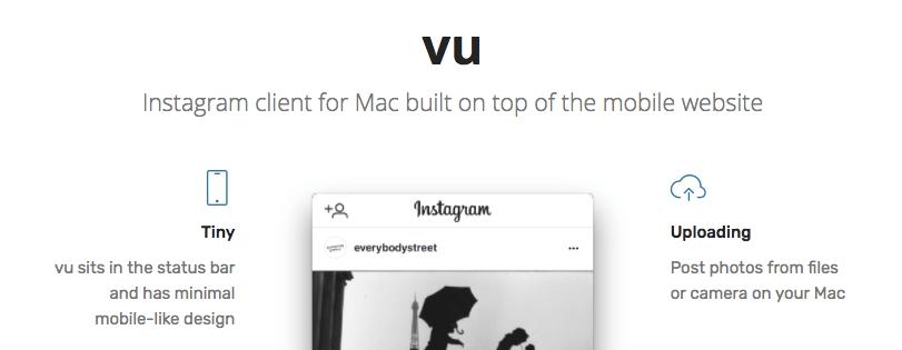 Vu - Mac Apps for Marketers