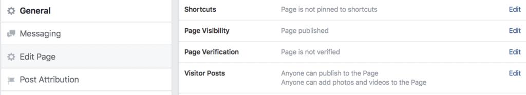 Facebook Page Verification Process