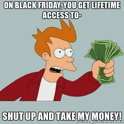 Fry Meme - Black Friday