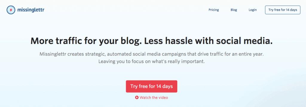 Missinglettr - Social Media Automation Tool