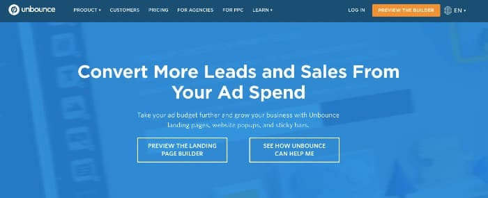 Unbounce - Online Advertising Tools