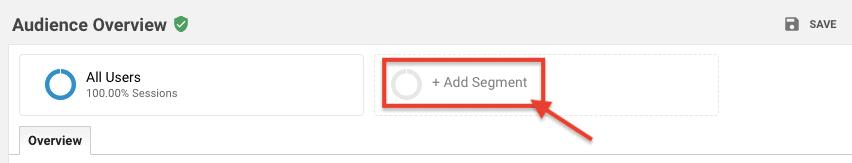 Add Segment - Google Analytics