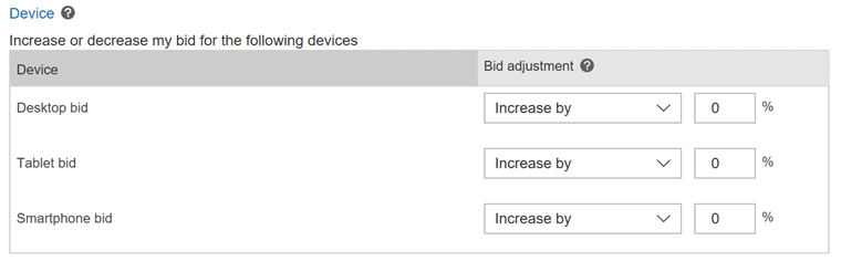 Bing Device Targeting
