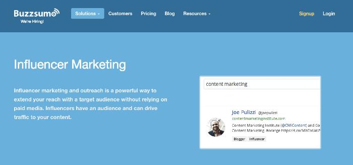 Buzzsumo Influencer Marketing