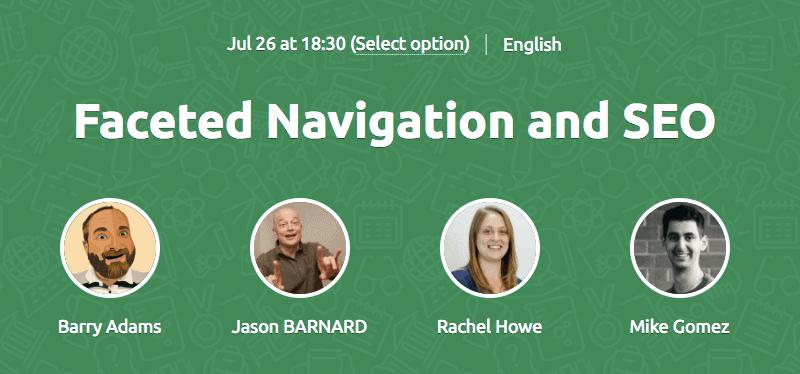 Faceted Navigation SEO Webinar