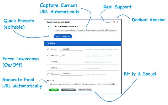 Google Analytics URL Builder Chrome