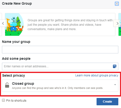 Privacy Setting on FB Groups