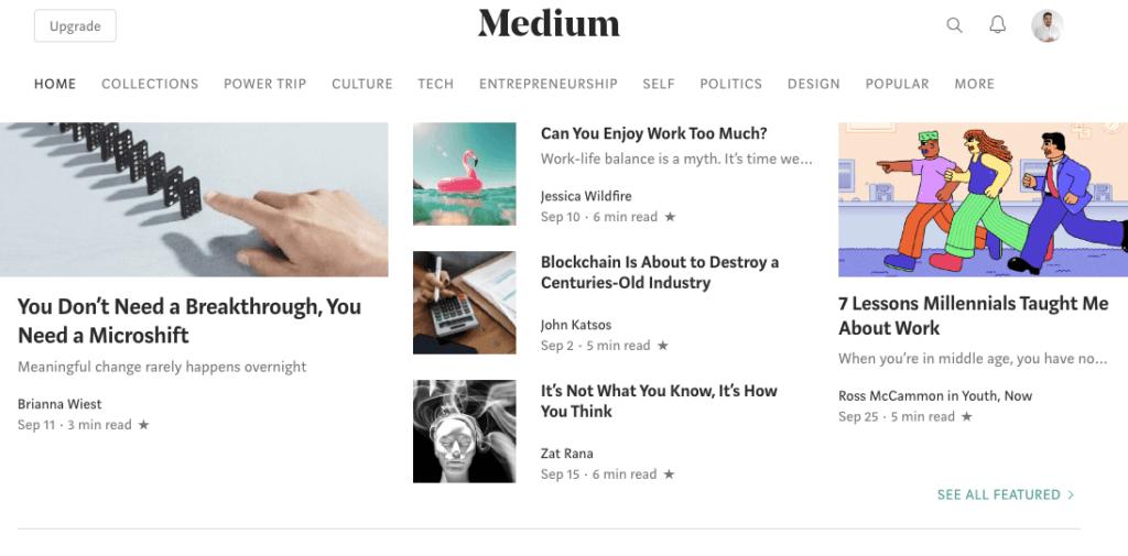 Condividi i tuoi contenuti su Medium e LinkedIn