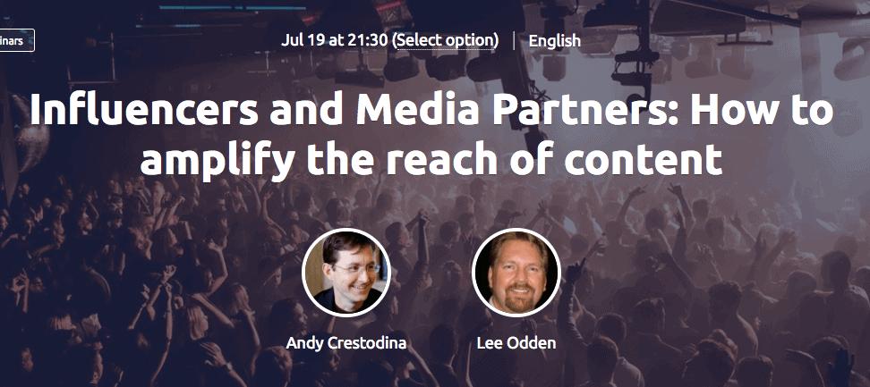 SEMrush Webinar - Influencers and Media Partners