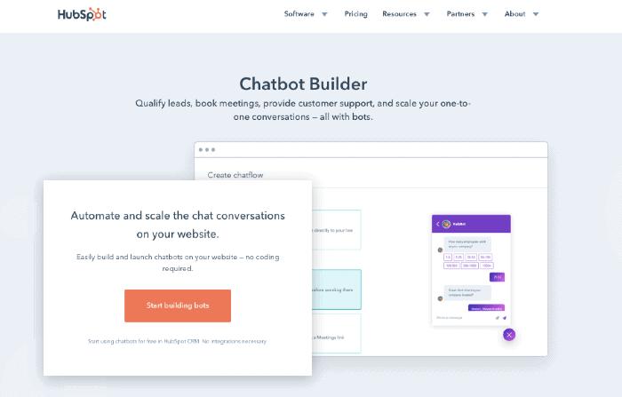 HubSpot's Chatbot Builder