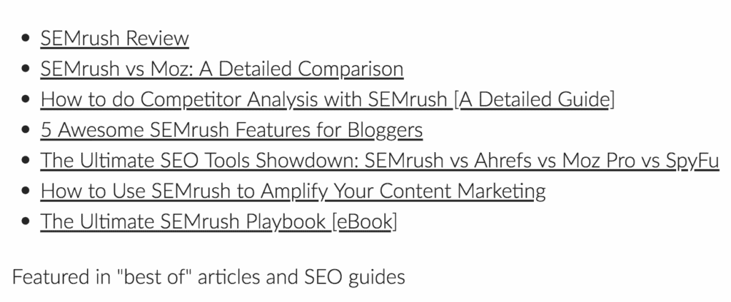 SEMrush Resources at 99signals