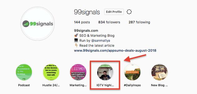 99signals - IGTV Highlights
