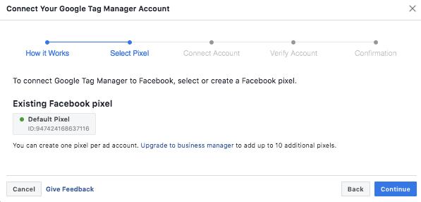 Facebook Pixel Integration with GTM - Step 2