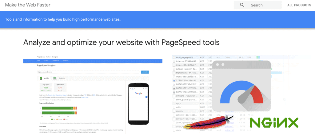 PageSpeed Insights by Google analyzes different pages on your website and provides you with a set of actionablerecommendations to make your website load faster on all devices.