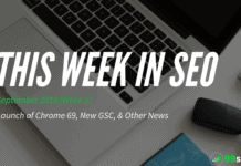 This Week in SEO - September 2018, Week 1