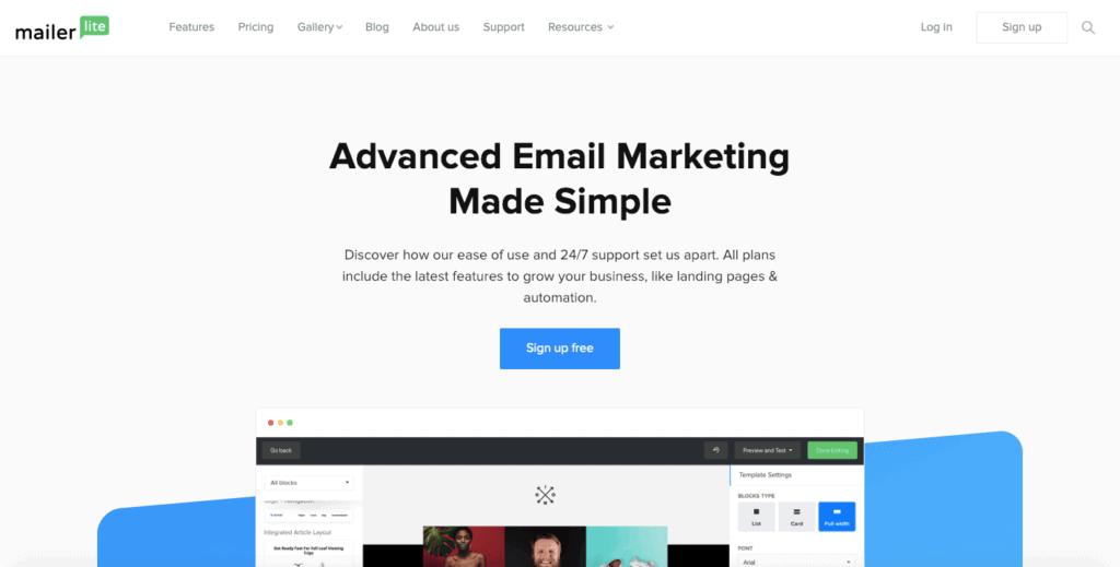 MailerLite Email Services