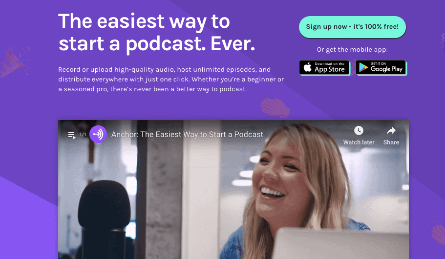 Anchor Podcasts - Anchor removes all the logistical barriers of podcasting, making it easy and funwithout sacrificing the quality.