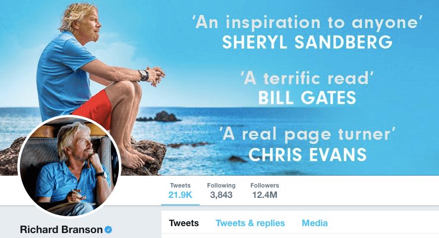 Branson on Twitter