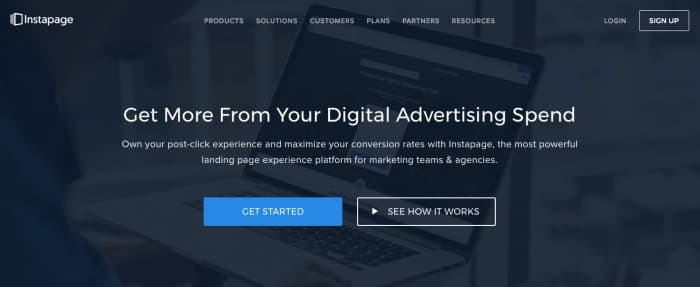 Instapage landing pages
