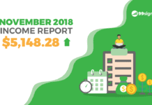 Nov 2018 Income Report - 99signals