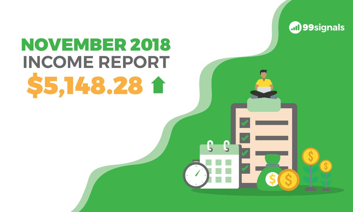 Nov 2018 Income Report - 99signals