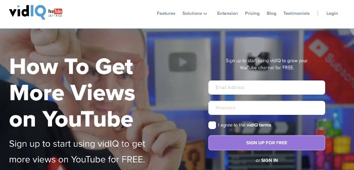 VidIQ YouTube SEO