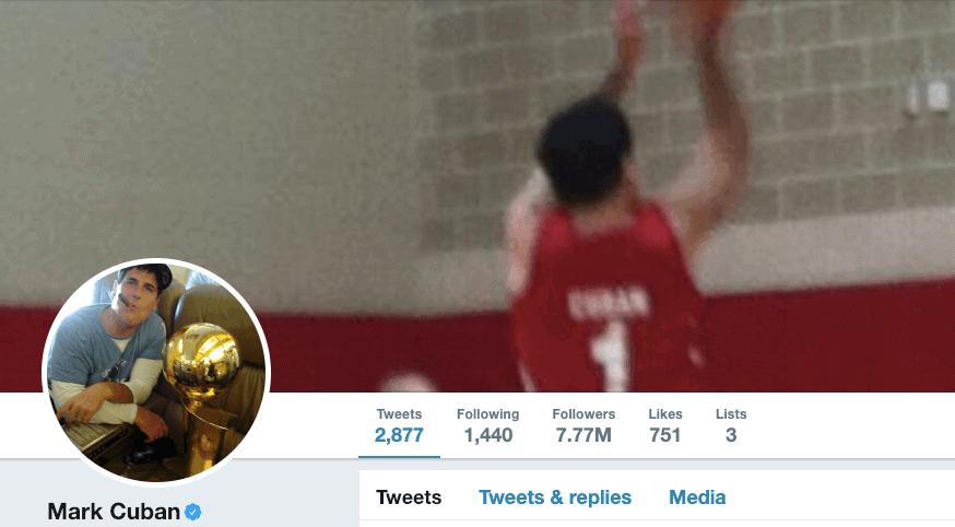 Mark Cuban on Twitter