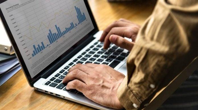 Man checking analytics reports