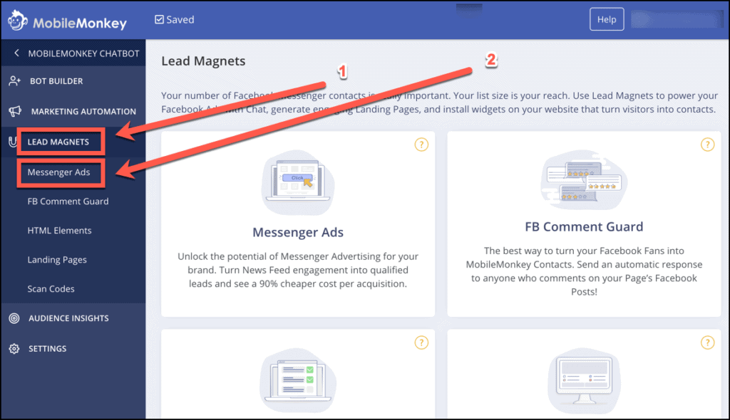 Create a Facebook Messenger Ad in MobileMonkey