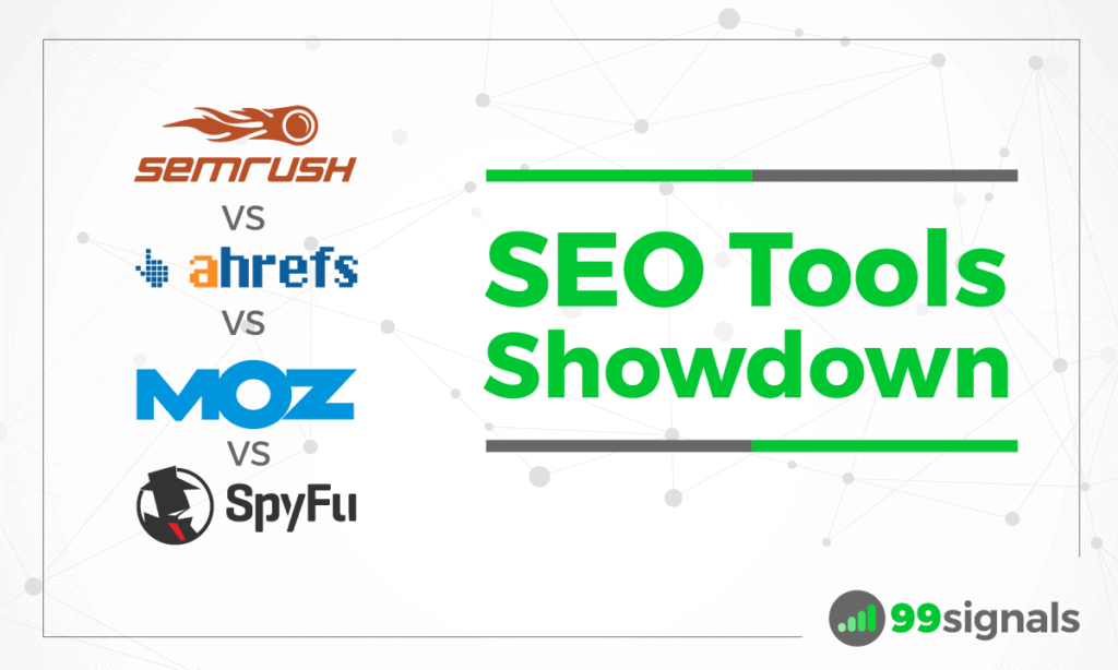 Showdown Strumenti SEO: SEMrush vs Ahrefs vs Moz Pro vs SpyFu