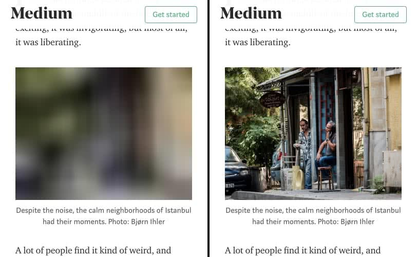 Lazy Loading Example: Medium