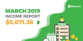 March 2019 Income Report - 99signals